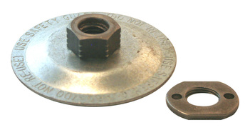 Steel throw-away mounting flange